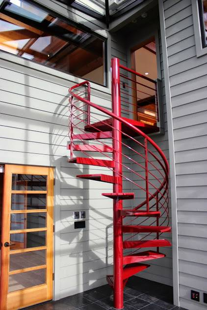 Outdoor Steel Spiral Staircase