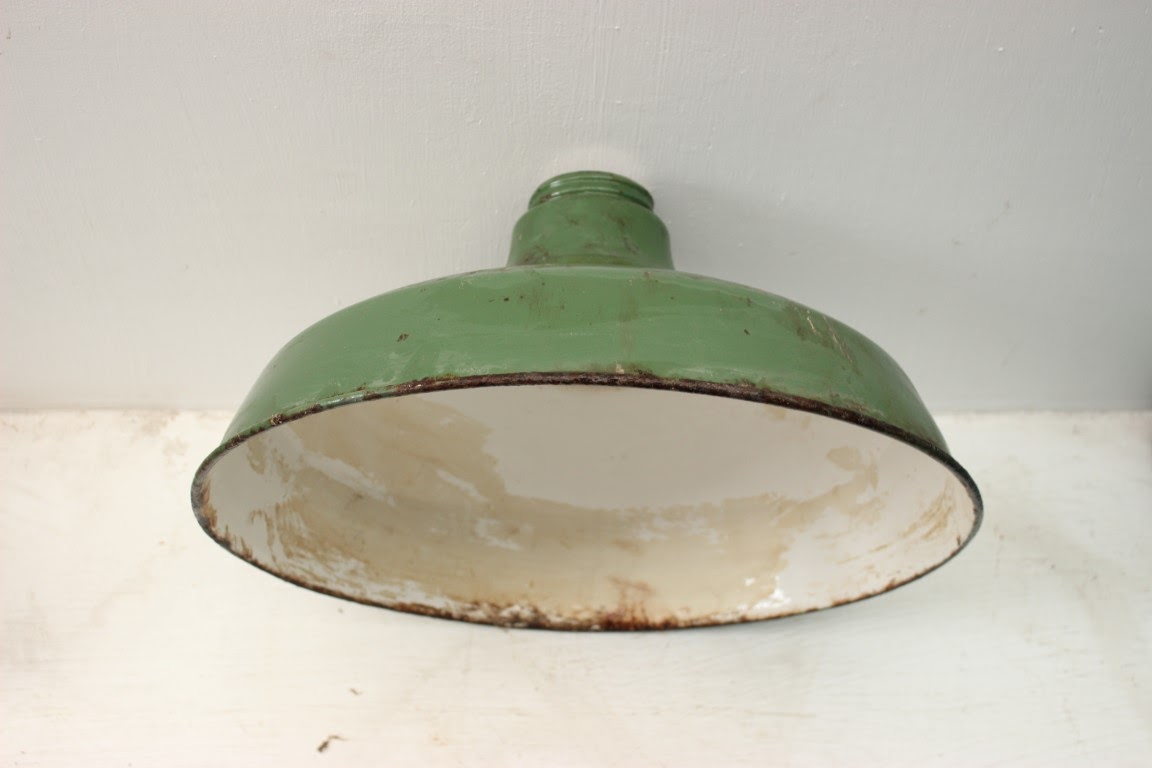 Vintage Enamel Industrial Light Shade Smoot Holman 26 56