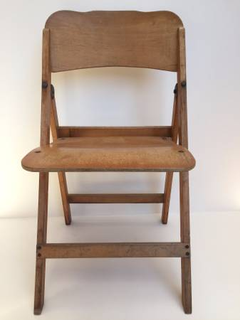 Pleasant Pair Vintage Folding Wood Church Chairs 12 54 16 20 0002 Ncnpc Chair Design For Home Ncnpcorg