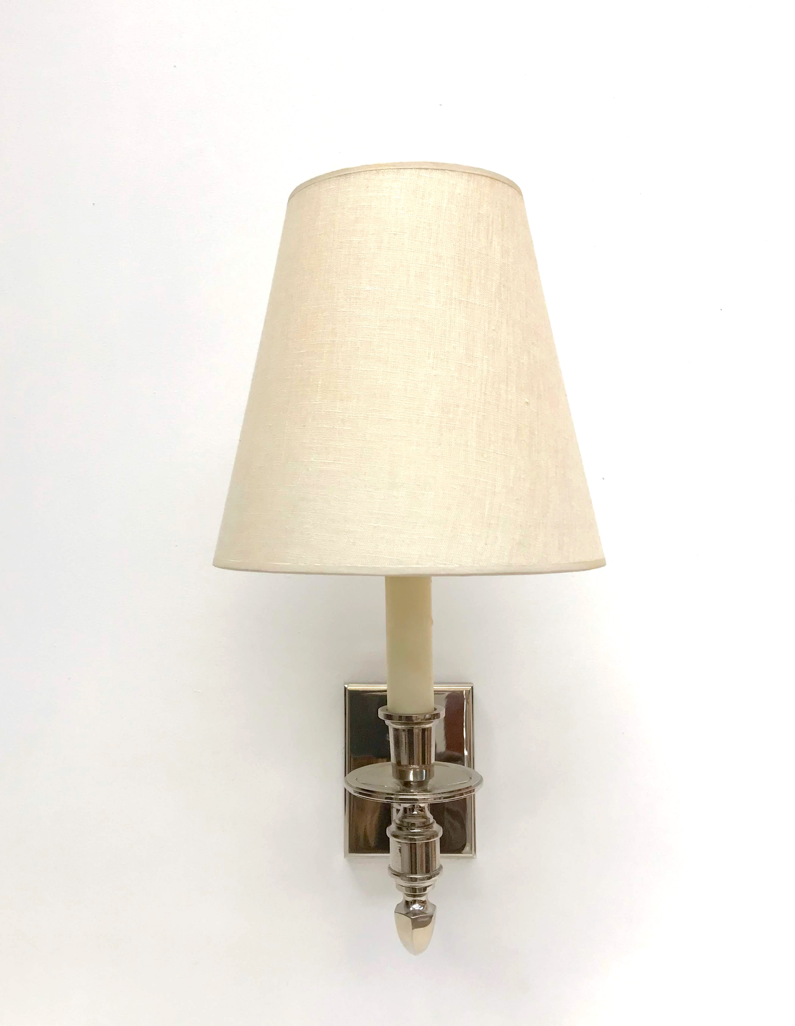Polished Nickel Swing Arm Wall Light W